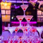 шампанское в бокалах корпоратив