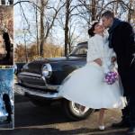 свадьба Игорь и Аня ретро авто победа