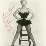 Betty Grable фото с подписью