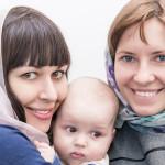 крестная и мама с крещаемым