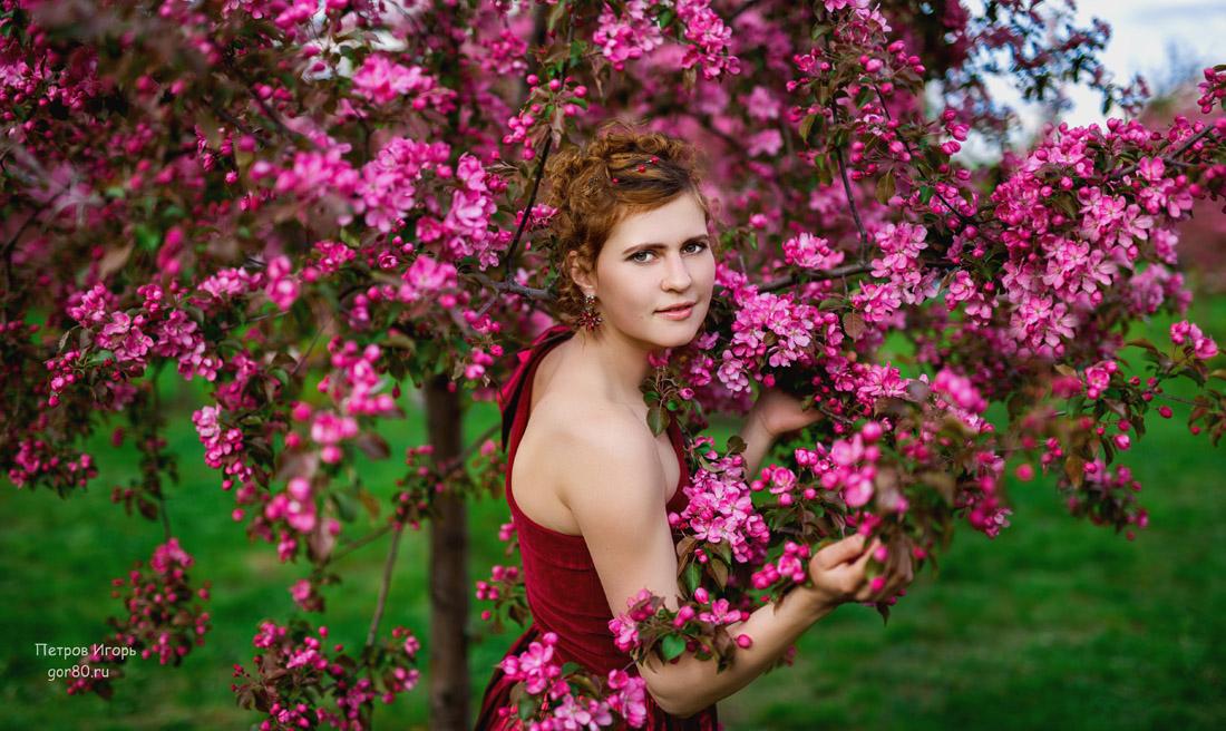 фотосессия в цветущем саду москва поставить горшок