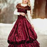 фотосессия девочки в платье 18 века