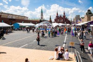 красная площадь, книжный фестиваль, Москва 2018