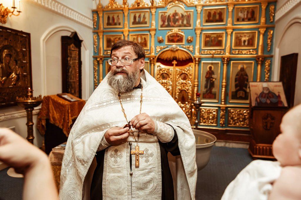 Крещение в храме Рождества Пресвятой Богородицы во Владыкине