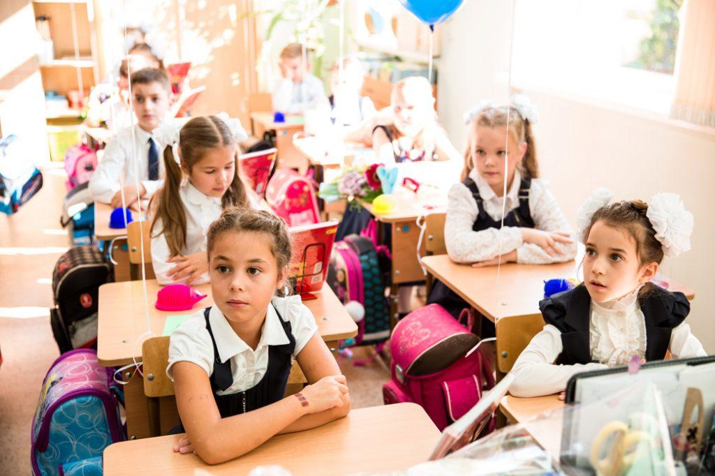Фотосессия в классе на первое сентября в Москве