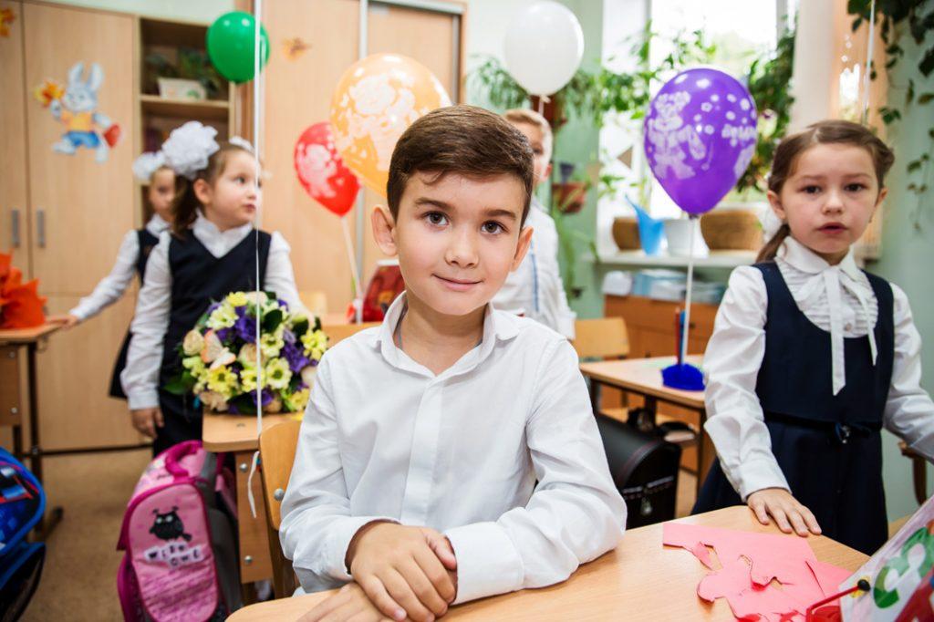 портретная фотосессия учеников в школе