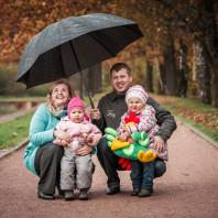 Семейная фотосессия осенью в Москве